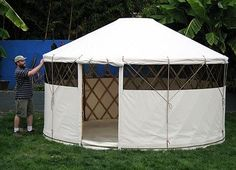 We used to scoff at yurts as being a bit crunchy granola for TreeHugger, but have become quite fond of them after seeing how light a footprint they have, and how comfortable they can be. While the Mongolians developed the yurt as a form of mobile