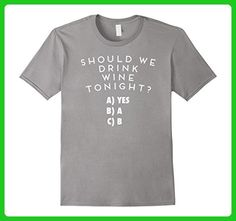 Mens Wine gifts for women, Funny wine t-shirt Large Slate - Food and drink shirts (*Amazon Partner-Link)