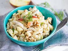 Hähnchensalat mit Apfel und Senf-Dill-Dressing