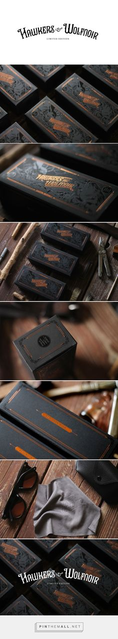 Hawkers & Wolfnoir Ltd. Edition Glasses Packaging by David Sanden | Fivestar Branding Agency – Design and Branding Agency & Curated Inspiration Gallery