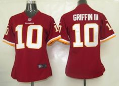 NIKE WOMEN WASHINGTON REDSKINS 10 GRIFFIN III AUTHENTIC GAME JERSEY