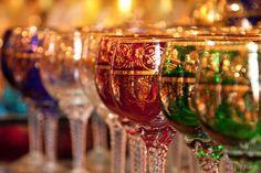 Murano glass goblets, Venice