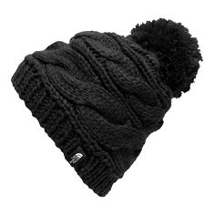The North Face Triple Cable Pom Beanie ( 30) ❤ liked on Polyvore featuring  accessories 9e67f7b9b77c