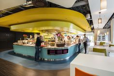 Solo - ecophon-saint gobain acoustic panel - referencie for University campus cafeteria in the Middle East by SI architects