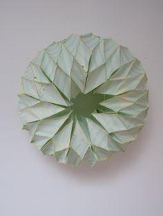Lauren DiCioccio paper pad reconfigurations paper from a found columnar pad, thread