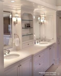 Traditional Master Bathroom with Signature Hardware 18 Oval Undermount Bathroom Sink, Master bathroom, Raised panel, Flush Traditional Bathroom, Beautiful Bathrooms, Bathroom Renovations, Bathroom Design, House Bathroom, Home, Modern Bathroom, Bathroom Decor, Undermount Bathroom Sink