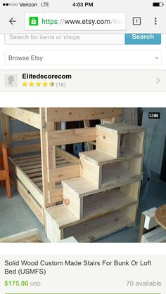 diy bunk bed plans with stairs woodworking projects u0026 plans