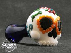 Sugar Skull Glass Pipe by GlassProdigy on Etsy https://www.etsy.com/listing/253834614/sugar-skull-glass-pipe
