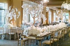 Tree Centerpieces - Add a little yellow