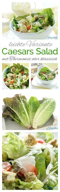 Leichtes Caesars Salad Dressing | mit Thermomix oder klassisch. Low carb, schnelle Küche, Caesar Salad Sauce leicht: https://einfachstephie.de/leichtes-caesars-salad-dressing-thermomix-caesar-salad-sauce/