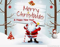 Funny Santa winter holidays wishes 2015