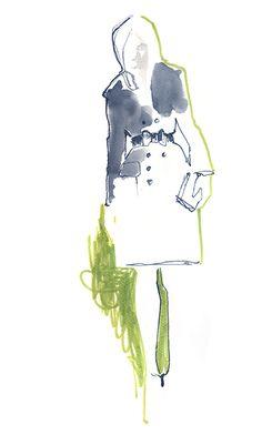 Maya Beus fashion illustrator   Watercolors