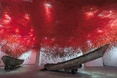The Key in the Hand: 50,000 Keys Suspended From a Ceiling by Chiharu Shiota