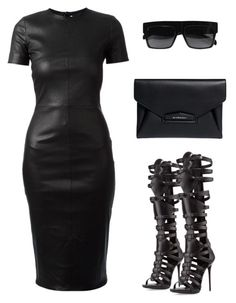 """""""ALL BLACK EVERYTHING by Melissa's Mirror"""" by melissas-mirror ❤ liked on Polyvore featuring Givenchy, Giuseppe Zanotti and CÉLINE"""