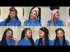 EASY HEAD WRAP INDIVIDUAL CROCHET BRAIDS HAIRSTYLES | SENEGALESE TWIST AND BOX BRAIDS | NO CORNROWS - YouTube #poeticjusticebraids