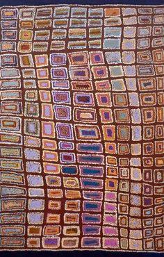 """Australian Indigenous Art by Jorna Napurrurla Nelson -  """"Mina Mina Jukurrpa"""" - (Mina Mina Dreaming) - Ngalyipi - 560/09ny $1308"""