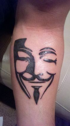 V for vendetta mask tattoo – anonymous