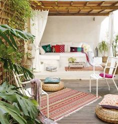 DECO | Un loft en Barcelona con una terraza ibicenca