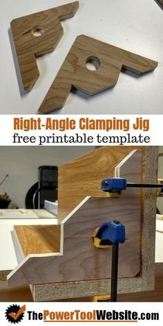 Right angle clamping jig - It's like having an extra pair of hands in your wood . Right angle clamping jig – It's like having an extra pair of hands in your wood shop! Woodworking Hand Tools, Woodworking Techniques, Popular Woodworking, Woodworking Furniture, Woodworking Shop, Woodworking Crafts, Woodworking Plans, Woodworking Jigsaw, Woodworking Basics