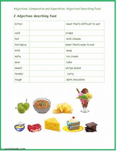 Comparison and Superlative of Adjectives - Interactive worksheet School Subjects, Second Language, Web Browser, Colorful Backgrounds, Worksheets, Student, Literacy Centers, College Students