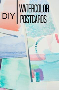 watercolor_postcards_DIY                                                                                                                                                      More