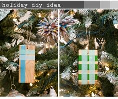 Diy washi tape ornaments -- cute but I think they'd be even cuter as gift tags (via eat.live.shop)