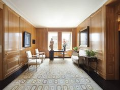 14-room duplex apartment on Fifth Avenue, New York