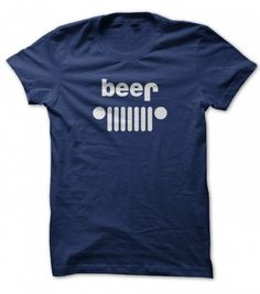 beer jeep parody funny t-shirt for men - A great shirt that turns the Jeep logo on it's head to make it about beer . 100% Cotton Adult T-Shirt Free shipping