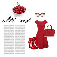 """All red"" by zelihagunes on Polyvore featuring Miu Miu, Jimmy Choo, MICHAEL Michael Kors and Oris"