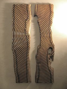 carved wood contemporary relief sculpture by fractalwoodart, £775.00