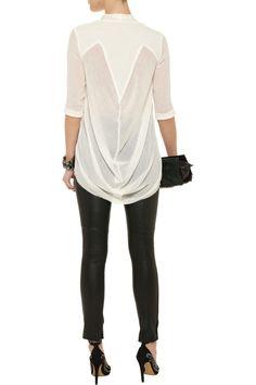 Helmut Lang Drape-back woven shirt