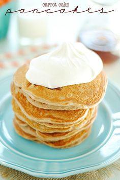 Carrot Cake Pancakes | www.somethingswanky.com
