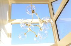 Beautiful Branching Chandelier 9 lights by IntermountainLights