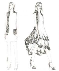 Zorana kozomara designs clothes in 2019 fashion sketches, dr Dress Design Drawing, Dress Design Sketches, Fashion Design Sketchbook, Fashion Design Drawings, Fashion Sketches, Dress Illustration, Fashion Illustration Dresses, Fashion Drawing Dresses, Donia
