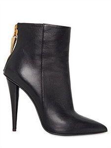Giuseppe Zanotti - 110Mm Pointed Calfskin Boots | FashionJug.com