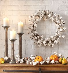 Fall will be here before you know it. And what better way to enjoy it than with beautiful harvest decor for the home? Take your home to the next level with wreaths, candle holders, garland and more.