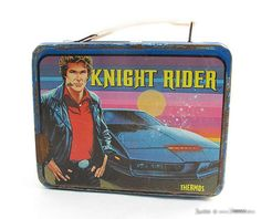 Knight Rider Lunchbox - Part of Ariel Hyatt's of @CyberPR s lunchbox collection #Child ofThe80s
