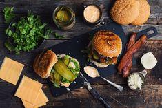 Alcoholic Root Beer, Homemade Big Mac, American Cheese, Hamburger Buns, Pickle Relish, Big Bowl, How To Dry Oregano, C'est Bon, Salmon Burgers