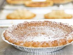 Hoosier Sugar Cream Pie Recipe courtesy of Hoosier Mama Pie Company