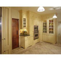 Ceramics islands and teak on pinterest for Buttercream kitchen cabinets