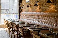 "pizzeria design interior | According to their website, ""the interior design pays respect to the ..."