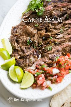 Carne Asada Recipe - Mexican Beef for Tacos, Burritos and more on Cinco de Mayo | @bestrecipebox