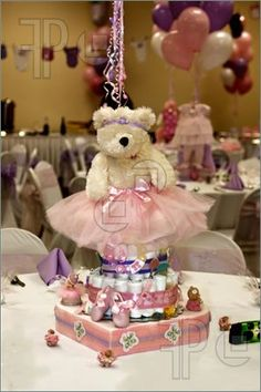 teddy bear with tutus baby shower centerpieces   Baby Shower Centerpiece Pics. Stock Image To Download by FeaturePics ...