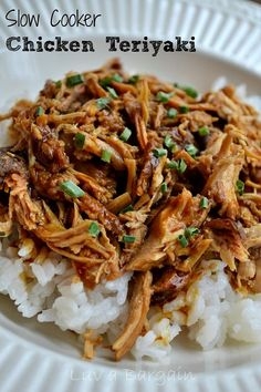 Nothing better than a great homemade Slow Cooker Chicken Teriyaki. Serve over rice for another healthy dinner choice.