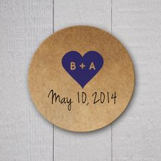 Save The Date Stickers Kraft Stickers Envelope by OrangeUmbrellaCo, $4.35