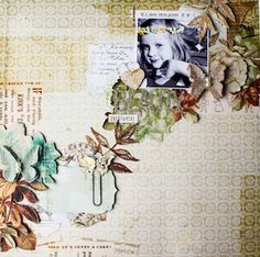 Scrapmanufaktur: Scrapbooking Layouts using the Pink Paislee Hope Chest collection