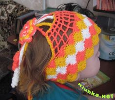 Colorful headband with diagram