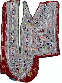 Handmade Zari work Neck Yoke Vintage Banjara by coloursofspirit