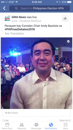 COMELEC Chairman live during first debate