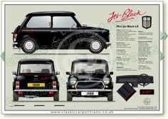 Mini Red Hot LE 1988 classic car portrait print